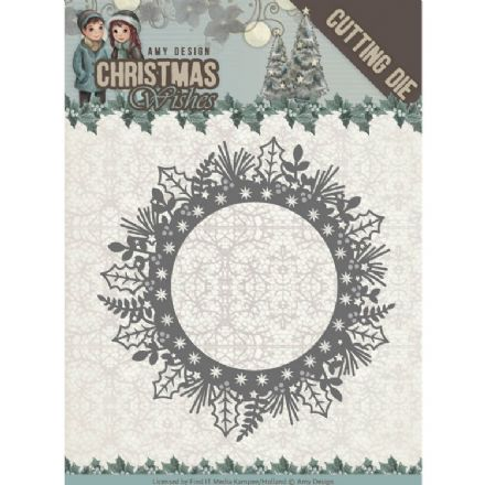 ADD10149 ~ Holly Wreath Die~ Christmas Wishes  ~ Amy Design